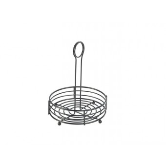 "Black Wire Table Caddy 6.5""..."
