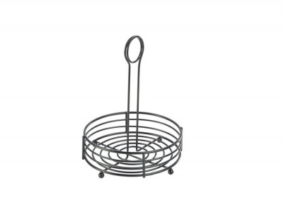 "Black Wire Table Caddy 6.5"" Dia X..."
