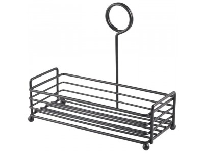 Black Wire Table Caddy 7.75 x 3.5 x...