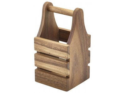Acacia Wood Cutlery Holder 10 x 10 x...
