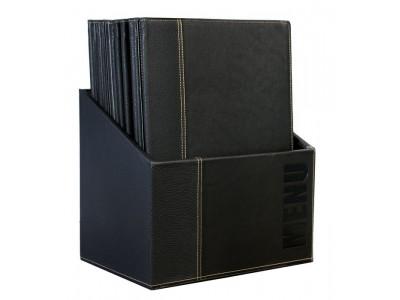 Contemporary Menu Box + 20 A4 Black...