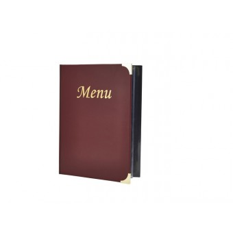 A5 Menu Holder Wine Red 8...