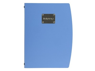 Rio A4 Menu Holder Blue 4 Pages