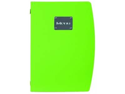 Rio A4 Menu Holder Green 4 Pages
