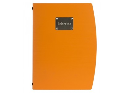 Rio A4 Menu Holder Orange 4 Pages