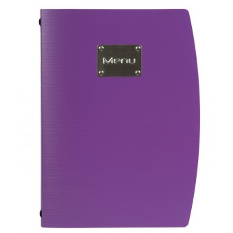 Rio A4 Menu Holder Purple 4...