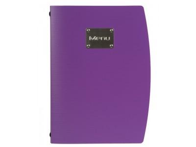 Rio A4 Menu Holder Purple 4 Pages
