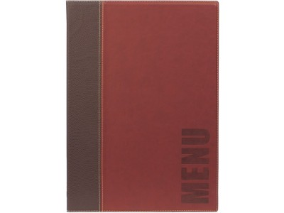 Contemporary A4 Menu Holder Wine Red...