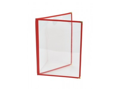 Red American Style A4 Menu Holder - 2...