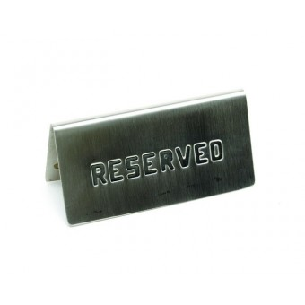 """S/St. Table Sign""""Reserved""""..."""