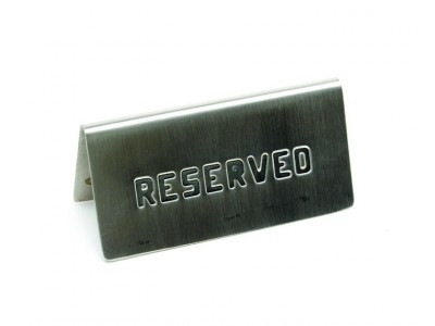 "S/St. Table Sign""Reserved"" 15 X 5cm"