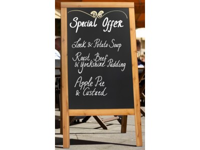 Notice Display A-Board 70X120cm Teak