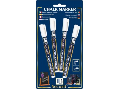 Chalkmarkers 4 Pack White Small