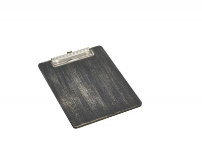 Black Wooden Menu Clipboard A5...