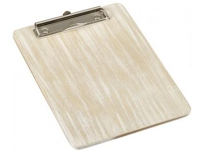 White Wash Wooden Menu Clipboard A5...