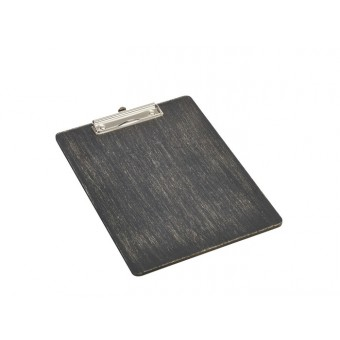 Black Wooden Menu Clipboard...