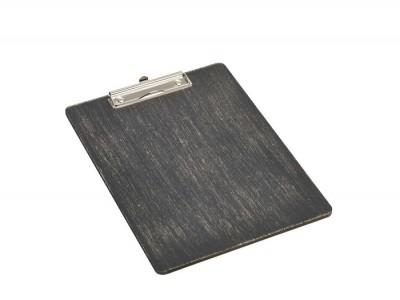 Black Wooden Menu Clipboard A4...