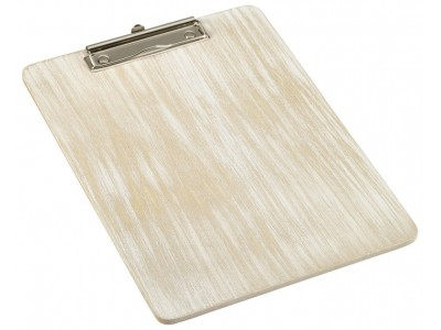 White Wash Wooden Menu Clipboard A4...
