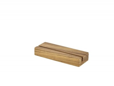 Acacia Wood Menu Stand 20 x 3.2 x 7.5cm