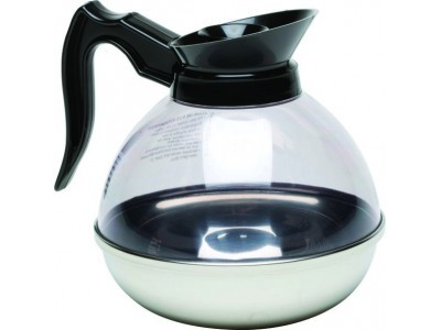 Coffee Decanter Clear Top/S/St.Base...