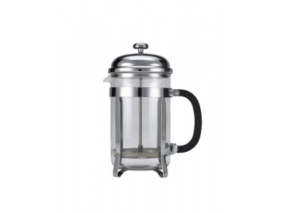12 Cup Cafetiere Chrome Pyrex 48oz...