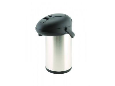 St/St Unbreakable Vacuum Pump Pot 3.5L