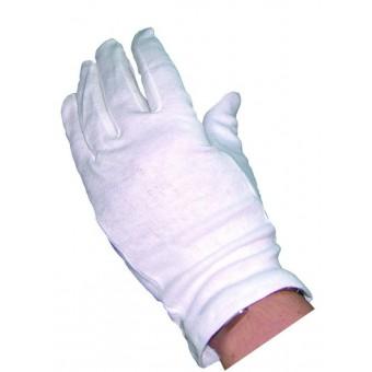 White Cotton Gloves (10 Pairs)