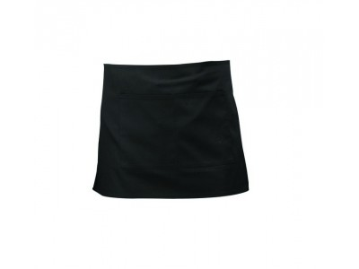 Black Short Apron 70cm x 37cm