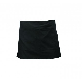 Black Short Apron W/ Split...
