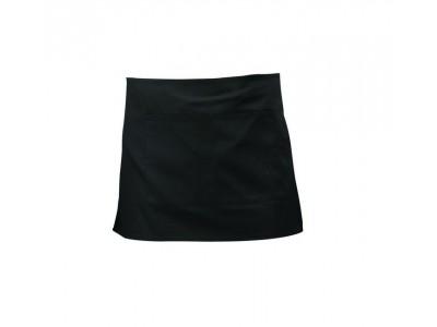 Black Short Apron W/ Split Pocket...
