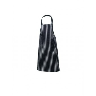 Navy Butchers Stripe Bib...