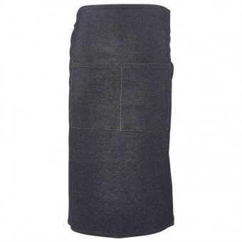 Washed Denim Waist Apron 90...