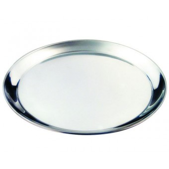 "S/St. 12"" Round Tray 300mm"