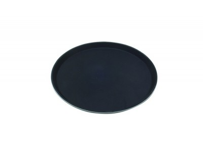 "Tray Gengrip Fibreglass Round 16"" Black"