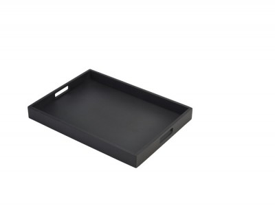 Solid Black Butlers Tray 44 x 32 x 4.5cm