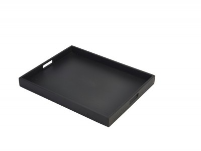 Solid Black Butlers Tray 49 x 38.5 x...