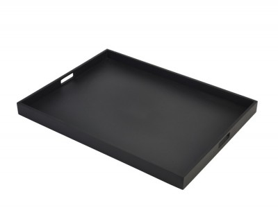 Solid Black Butlers Tray 64 x 48 x 4.5cm