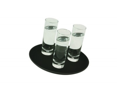 "Gengrip 11"" Round Non-Slip Tray Black"