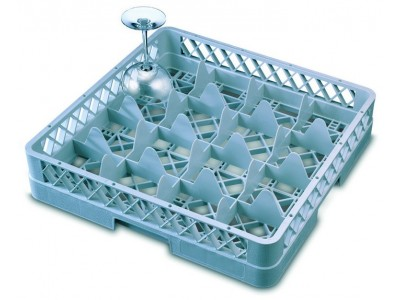 Genware 16 Comp Glass Rack With 4...