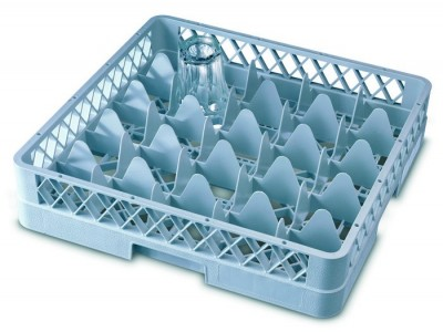 Genware 25 Comp Glass Rack With 3...
