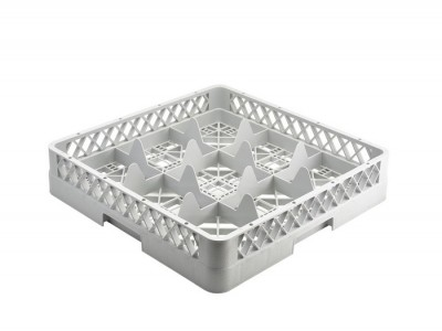 Genware 9 Comp Glass Rack With 1...