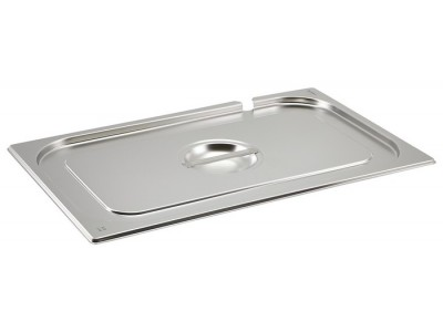 St/St Gastronorm Pan Notched Lid 1/1