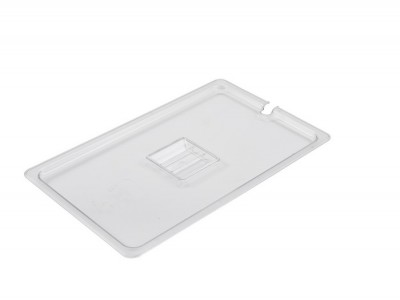 1/1 Polycarbonate GN Notched Lid Clear