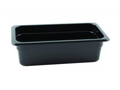 1/3 -Polycarbonate GN Pan 100mm Black...
