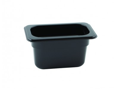 1/9 -Polycarbonate GN Pan 100mm Black...