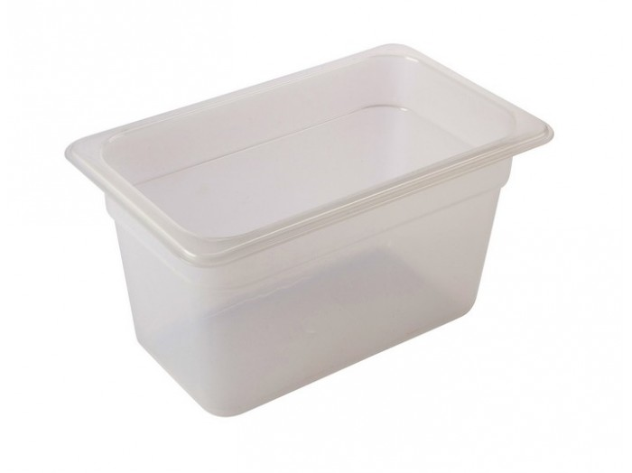 Genware 1/4 Polypropylene GN Lid Clear - Kitchenware