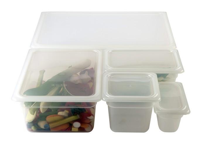 1/2 Polypropylene GN Lid Clear - Genware - Plastic