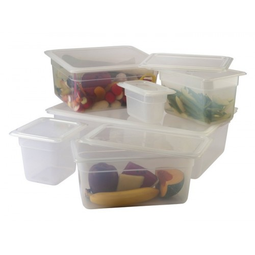 Polinorm Food Pan Lid Clear 1/2 GN Half Size Polypropylene