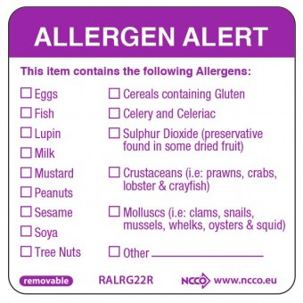 50X50mm Removable Allergen...