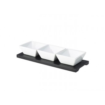 Black Wood Dip Tray Set 27...